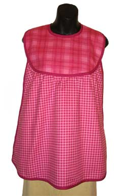 Make Pink Plaid Bib & Clothing Protector for Adults
