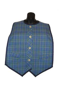 Make Plaid Vest Senior Bib Pattern